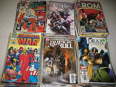 Lot of 50 DIFFERENT ALL SPACE Comic Thanos Guardians Galaxy Surfer Grab Bag