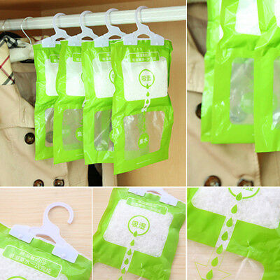 Scented Hanging Dehumidifier Bag Wardrobe Anti Damp Mildew Mould Absorb Moisture