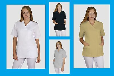 Tunic Ladies Uniform Nurses Massage Dentist Beauty Salon SPA Clinic Top Hospital