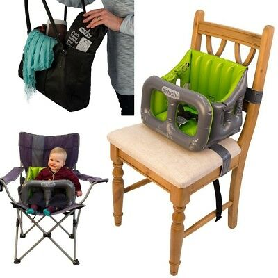 Airtushi Inflatable Portable Baby High Chair New With Rigid Sides Top Quality
