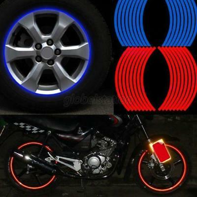 Colorful Reflective Car Motorcycle Rim Stripe Wheel Tape Decal Sticker Decor AU