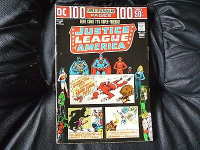 Justice League of America # 110 back page away from spine about 2 inches