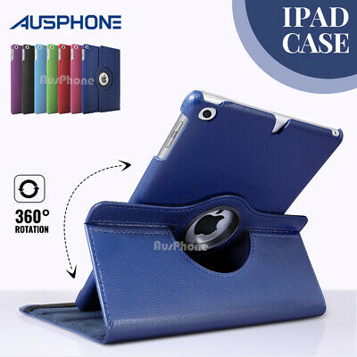 360 Rotate Smart Leather Case Cover For Apple iPad 2 3 4 5 6 / Air / Mini / Pro