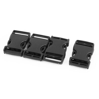 4pcs Plastic Side Quick Release Buckles Clip for 25mm Webbing Band Black O4N7