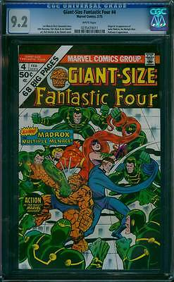 Giant-Size Fantastic Four # 4  Madrox..Multiple Menace !  CGC 9.2 scarce book !