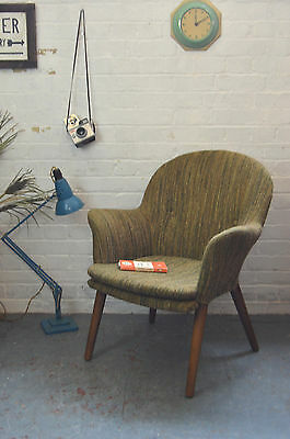 Vintage Mid Century Fabric Armchair Lounge Cocktail Chair