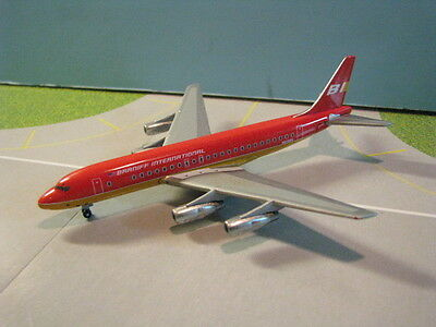 """Gemini Jets (Gjbnf287) Braniff Dc8-51 """"Red Flying Colors"""" 1:400 Scale Diecast"""