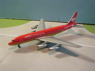 "Gemini Jets (Gjbnf287) Braniff Dc8-51 ""red Flying Colors"" 1:400 Scale Diecast"