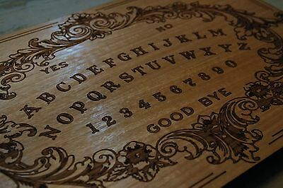 Solid Wooden Spirit Ouija Board & Planchette. Victorian Decorative Arts Inspired