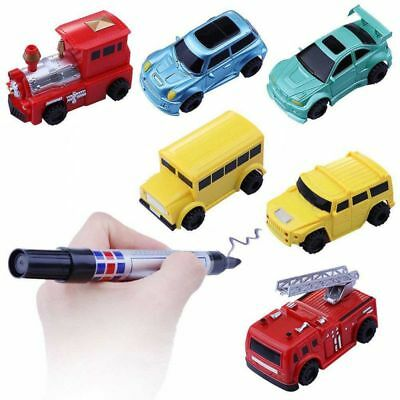 Follow Any Drawn Line Magic Pen Inductive Toy Car Bus Truck Mini Model Toys Gift