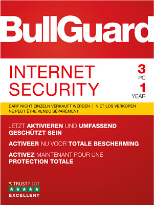 Bullguard Internet Security 2018 (1 oder 3 PC) Windows / KEY 1 Jahr