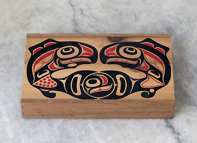 AMERICAN INDIAN native Americans, painted box