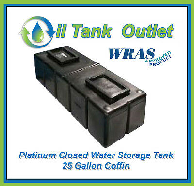 Closed  Water Storage Tank 25 Gallon Coffin - WRAS Approved