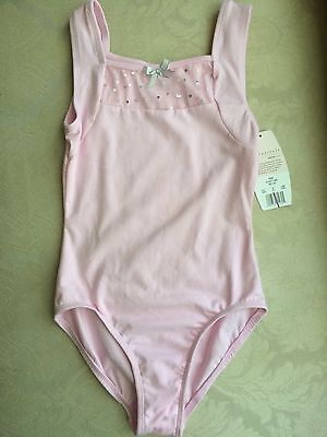 NWT Danskin Pink Freestyle New Leotard SIZE Small 6/6x SILVER BOW Ships Free