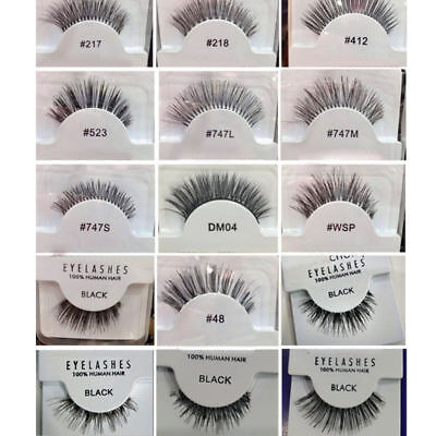 Fashion RED CHERRY False Fake Human Hair Eyelashes Eye lashes Makeup