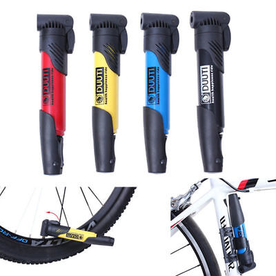 New Mini Portable Bike Bicycle Pump Tyre Tire With Gauge Air Inflator Equippment