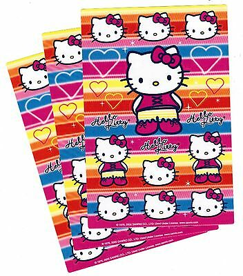 SANRIO Hello Kitty Stickers 3 Sheets! HEARTS and RAINBOW! 2005