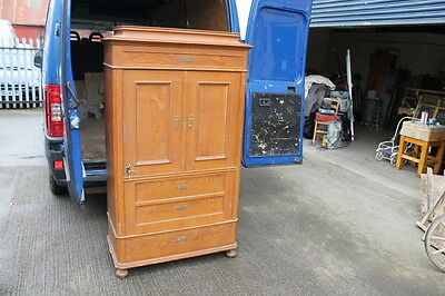 Antique Pine Danish Cupboard Wardrobe