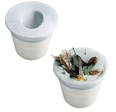 Pool Skimmer Filter Socks - 5 PACK. Stops the big stuff from clogging the filter