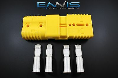 2Pcs Anderson Power Connectors Sb175 Yellow 1 Gauge Awg Battery Quick Disconnect