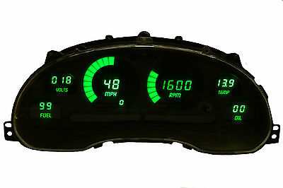 Ford Mustang Digital Dash Panel for 1994-2004 Gauges by Intellitronix Green LEDs