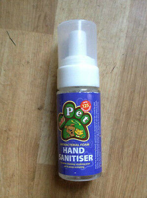 Pet  Hand Sanitiser 50ml 125 applications pump action  Comes in a 2 pack