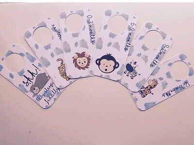 Baby Wardrobe Dividers - Any colour available - Animals and Clouds Design