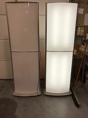 Backlit Graphic Display/Exhibit Stand(s) - 6' Tall w/ 4 Graphic Areas
