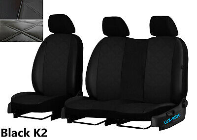 Vauxhall Vivaro 2014 Present 2+1 Leather Seat Covers Embossed Made To Measure