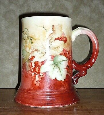 Hand Painted Jean Pouyat Limoges France Tankard