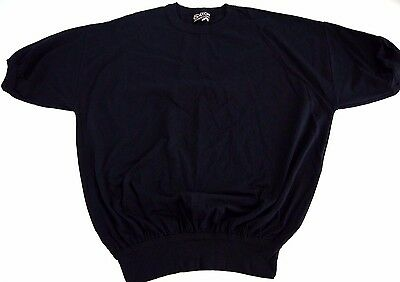 VINTAGE 80s blank black JOGGER t shirt made in USA NWOT sweatshirt short sleeve