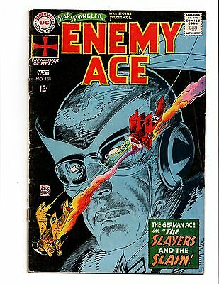 Star Spangled War Stories 138 1St Enemy Ace Key Vg Dc Classic Kubert Cover