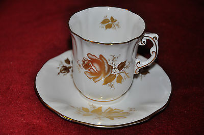 Pretty Hammersley & Co. Demitasse Cup & Saucer Duo in 'Golden Glory' Pattern