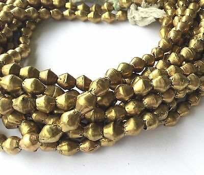 Ethiopian African Authentic Natural Brass Bicone trade beads