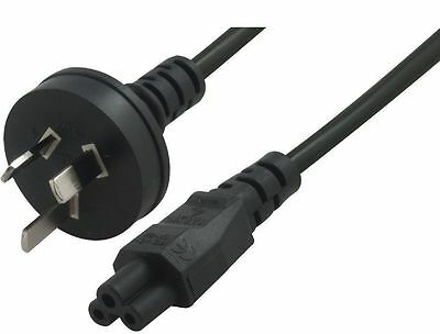 Power Cable/Cord/Lead Laptop/Notebook CLOVER Leaf 1.8M-2m AUST INSULATED PINS