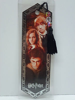 "Harry Potter ""Harry, Ron & Hermoine"" Die Cut Bookmark with Crystal Charms"