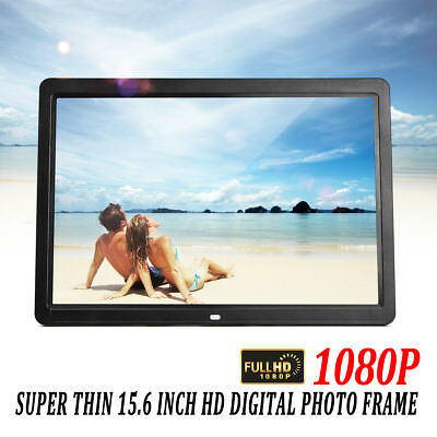 """15"""" 1080p HD LCD Digital Photo Frame Picture MP4 Movie Player Remote Control"""