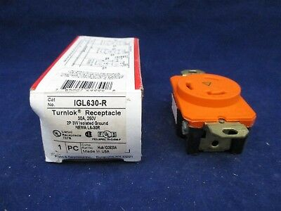Pass & Seymour IGL630-R Turnlok Receptacle new
