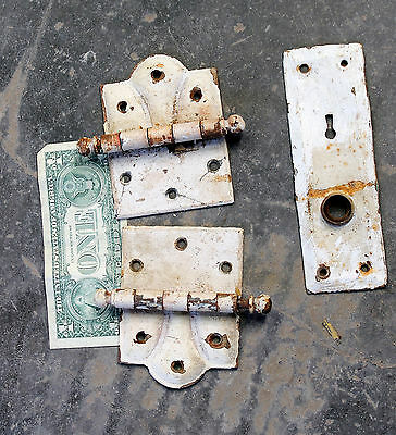 Marvelous Victorian Door hinge Hardware pair set old antique used real antique
