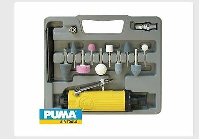 "Air Die Grinder Kit PAT7033K Puma 1/4"" Wrench Stones HandyMan WorkShop Tradie Co"