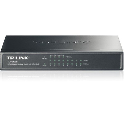 TP-LINK TL-SG1008P 8x Port Desktop Gigabit unmanaged Switch mit 4x PoE