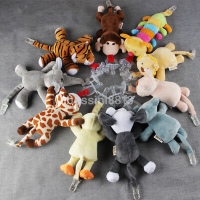 Kids Baby Boy Girl Pacifier Clip Chain Plush Animal Toy Soother Nipple Holder US