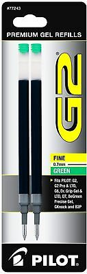 Pilot G2 Gel Ink Refill, 2-Pack for Rolling Ball Pens, Fine Point, Green Ink...
