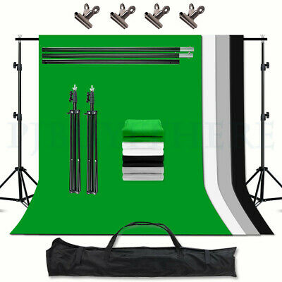 ChromaKey Green Screen Gray Black White Backdrop Background stand Photography