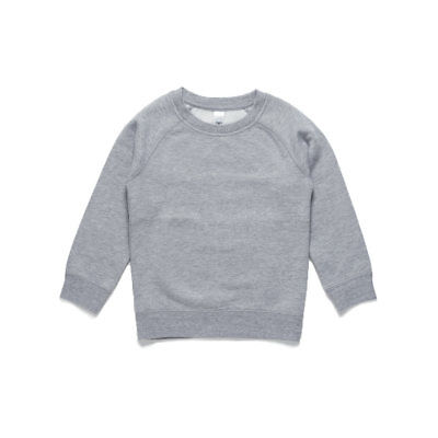 AS Colour Kid's Crew - Grey Marle (Size 2)
