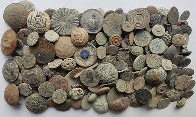 *Prados* LOT 200 OLD COLONIAL BUTTONS HIGH QUALITY BRONZE XVII-XVIII
