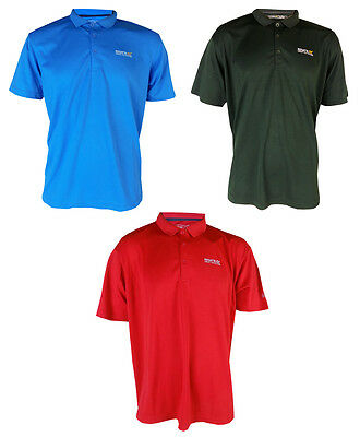New Regatta Mens Maverik Wicking Quick Dry Polo T Shirt Short Sleeve Gym Support