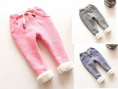 BibiCola Fall/Winter Baby Girls Leggings Plus Thick Velvet Christmas Pants