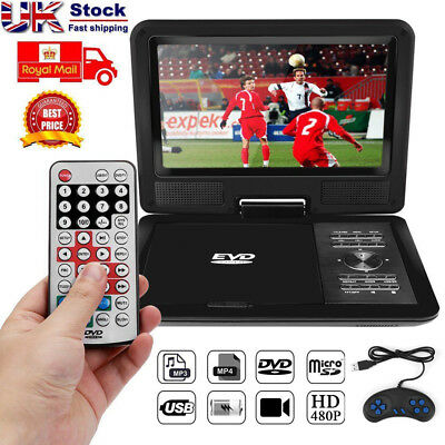 11'' 270° Swivel TFT Screen DVD Player 3D TV Game FM USB AV SD CD MP3 + Gamepad