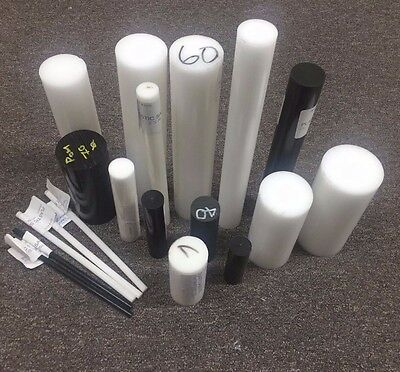 Variety of Acetal (POM-C) Round Bar / Rod Offcuts